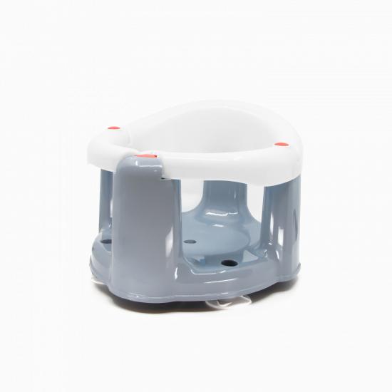 BabyJem Bathing and Feeding Seat with clasp, White- Gray