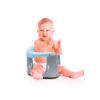 BabyJem Седалка за Kъпане и Хранене със закопчалка отпред, Синьо - Сиво