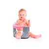 BabyJem Bathing and Feeding Seat with clasp, Pink - Gray