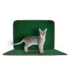 Постелка за Котешка Тоалетна, Зелен, 60 x 45 cm