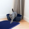 TriedThings Cat Toilet Mat, Navy Blue, 60 x 45