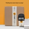 Manual dispenser for packing tape with duct tape, Black