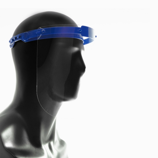 Protective Face Shield for Multiple Use, Blue