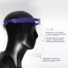 Предпазен шлем с подвижен визьор за многократна употреба, Син