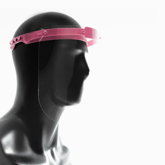 Protective Face Shield for Multiple Use, Pink